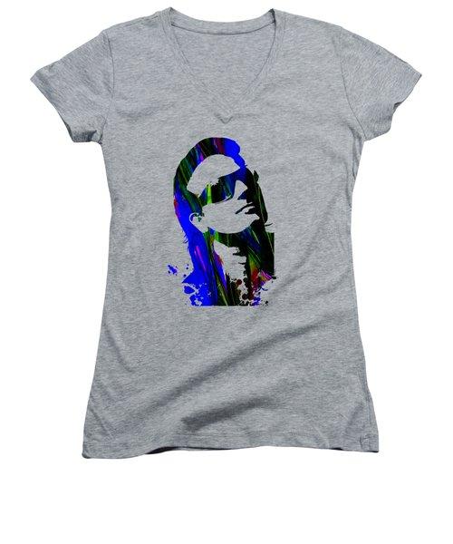 Bono Collection Women's V-Neck T-Shirt (Junior Cut) by Marvin Blaine