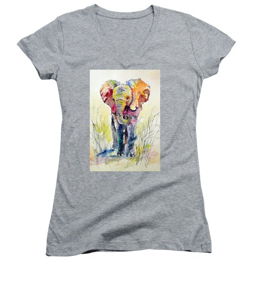 Elephant Women's V-Neck T-Shirt (Junior Cut)