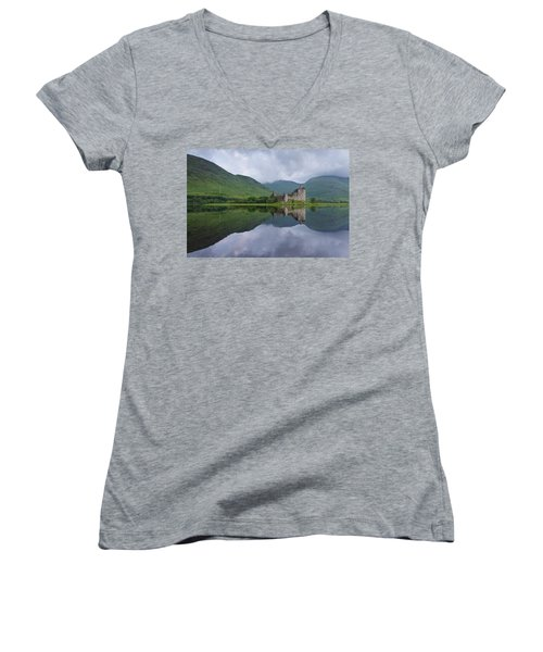 Kilchurn Castle Women's V-Neck T-Shirt