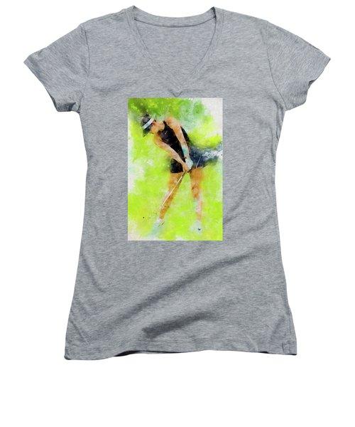 Michelle Wie Women's V-Neck T-Shirt