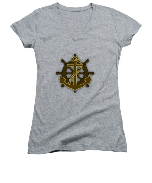 Nautical Collection Women's V-Neck T-Shirt (Junior Cut) by Marvin Blaine