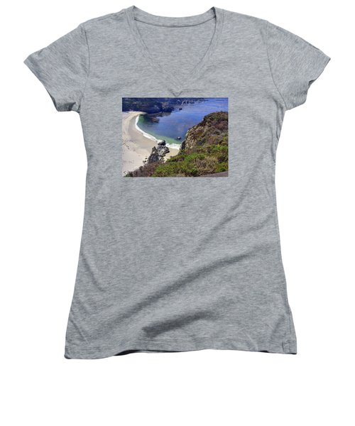 Point Lobos Beach Women's V-Neck