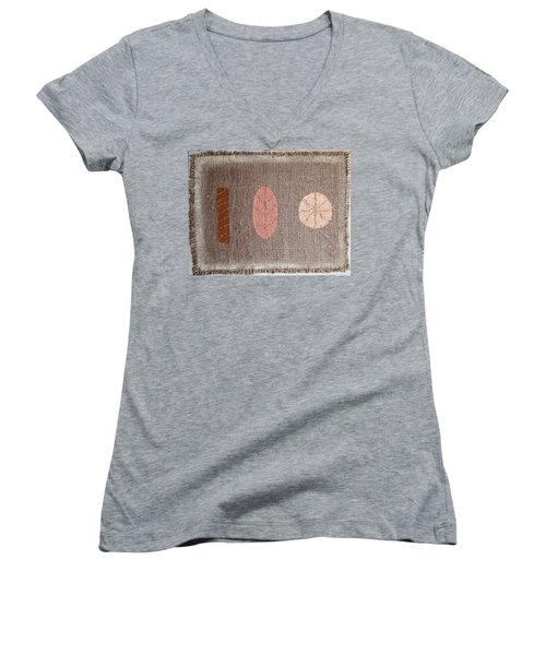 Untitled Women's V-Neck T-Shirt (Junior Cut) by Tamara Savchenko