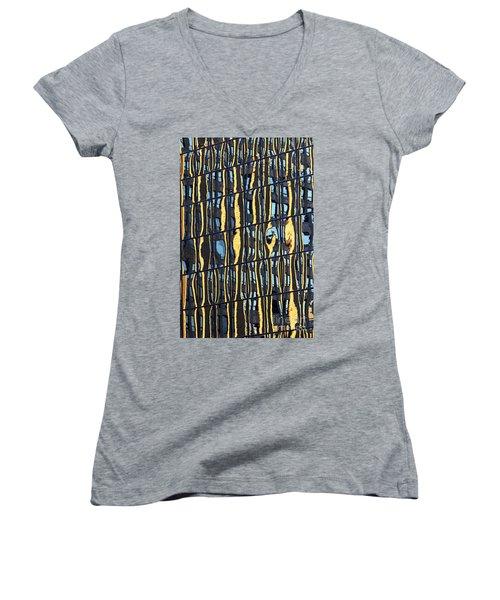Abstract Reflection Women's V-Neck T-Shirt (Junior Cut) by Tony Cordoza