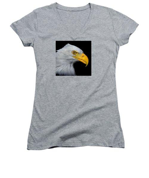 Bald Eagle 2 Women's V-Neck (Athletic Fit)