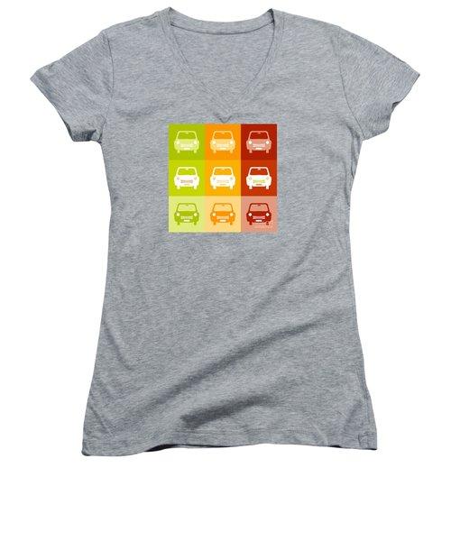 9 Cars Women's V-Neck T-Shirt