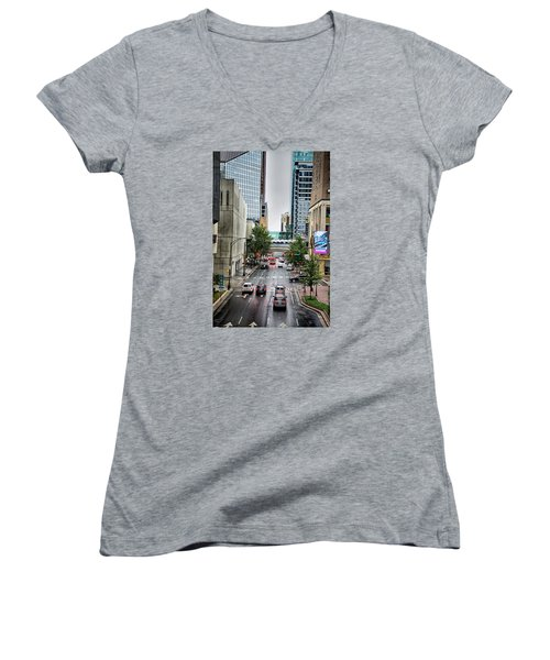 Charlotte North Carolina Views Around  Downtown Women's V-Neck