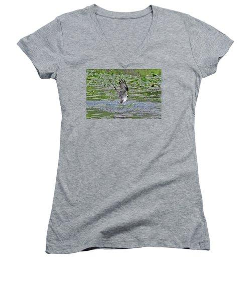 Osprey Fishing Women's V-Neck T-Shirt