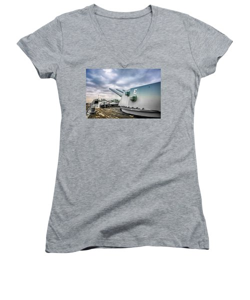 Uss Alabama Women's V-Neck T-Shirt