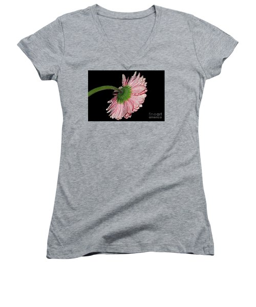 Pink Gerber Women's V-Neck T-Shirt