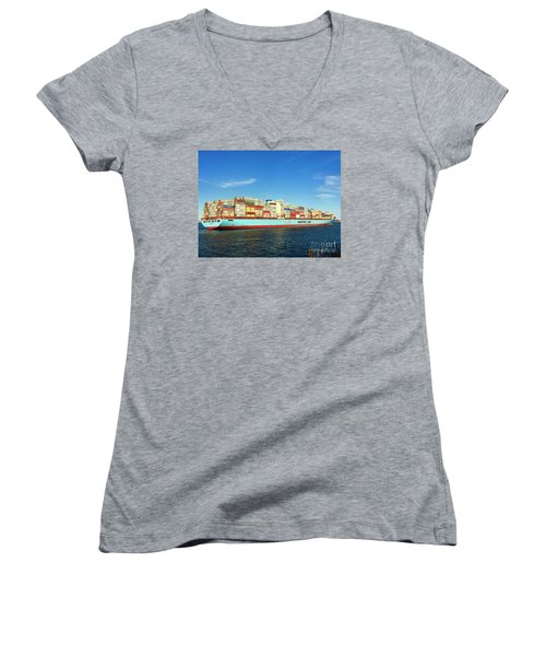 A Barge Can Be Beautiful Women's V-Neck T-Shirt