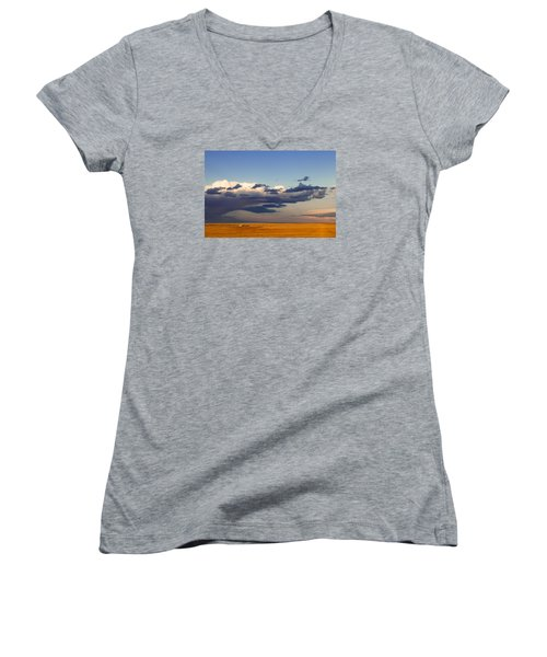 A Barn On The Prairie Women's V-Neck T-Shirt