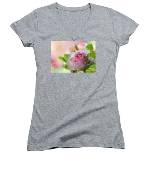 A Beautiful Rose Women's V-Neck (Athletic Fit)