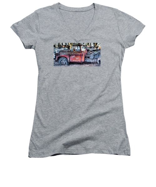 A Beautiful Rusty Old Tow Truck Women's V-Neck