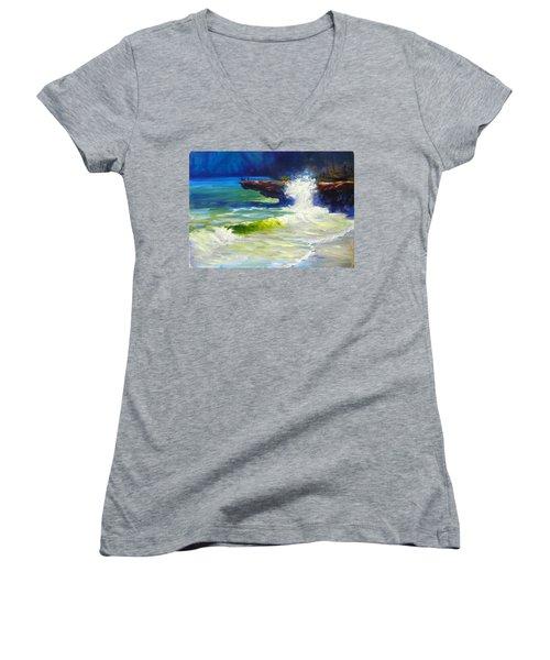 A Big Wave Women's V-Neck T-Shirt