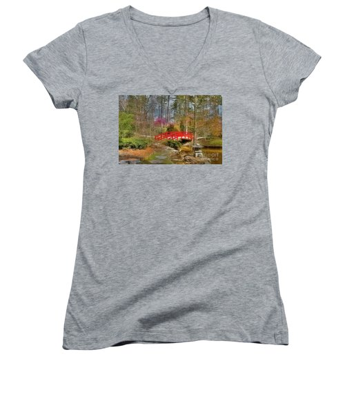 A Bridge To Spring Women's V-Neck (Athletic Fit)