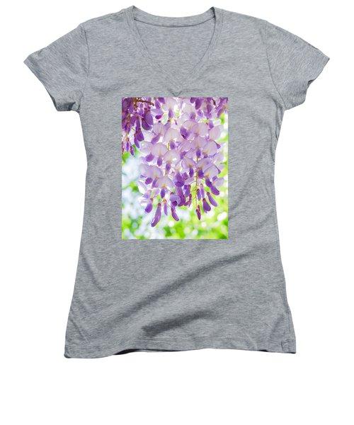 A Bright Sunshiny Day  Women's V-Neck T-Shirt (Junior Cut) by Steve Taylor
