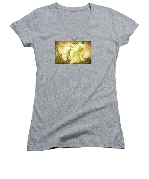 Women's V-Neck T-Shirt (Junior Cut) featuring the photograph A Bunch Of Birthday Wishes by Jean OKeeffe Macro Abundance Art