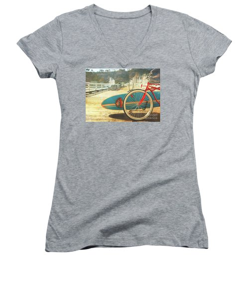 A California Postcard Women's V-Neck (Athletic Fit)