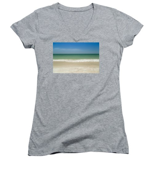 A Calm Wave Women's V-Neck (Athletic Fit)