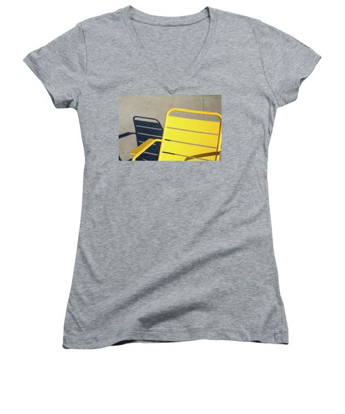 A Chair And Its Shadow Women's V-Neck T-Shirt