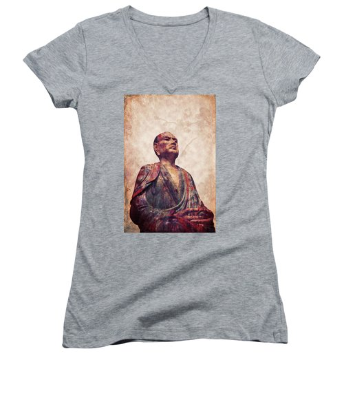 Buddha 5 Women's V-Neck T-Shirt (Junior Cut)