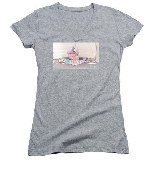 A Childs' Picnic Women's V-Neck T-Shirt