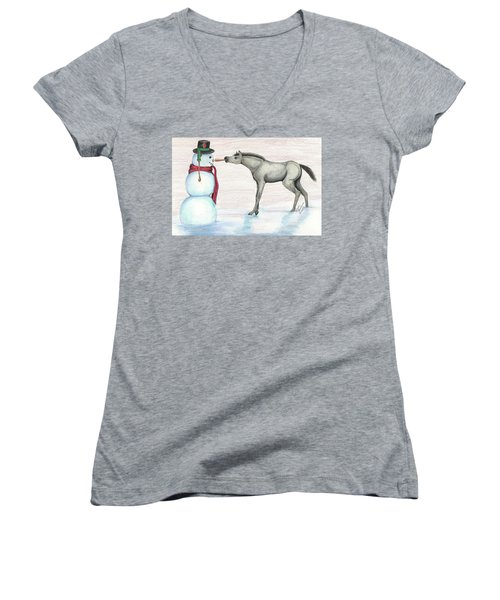 A Christmas Carrot Women's V-Neck (Athletic Fit)