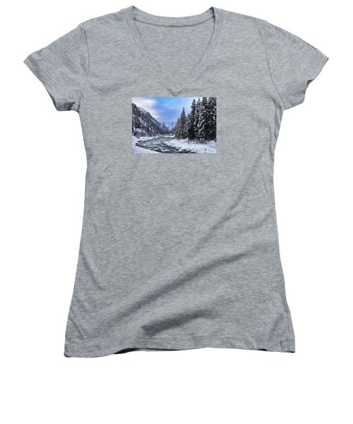 A Cold Winter Day  Women's V-Neck T-Shirt