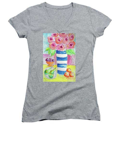 Fruit Salad Women's V-Neck (Athletic Fit)