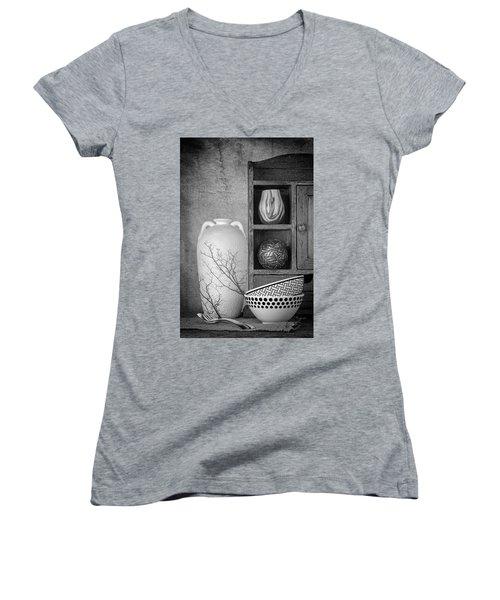 A Corner Of The Kitchen Women's V-Neck T-Shirt (Junior Cut) by Tom Mc Nemar