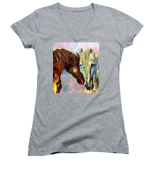 A Couple Of Horses Women's V-Neck T-Shirt