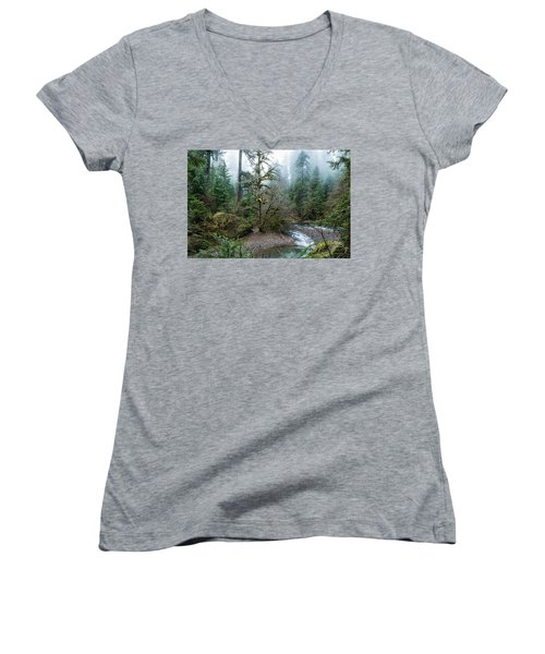 A Creek Runs Through It Women's V-Neck (Athletic Fit)