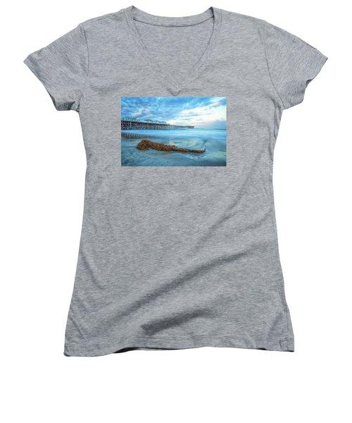 A Crystal Morning Women's V-Neck T-Shirt (Junior Cut) by Joseph S Giacalone