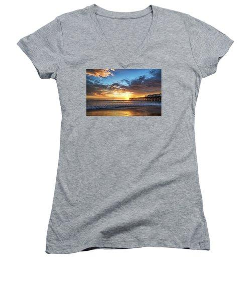 A Crystal Sunset Women's V-Neck T-Shirt (Junior Cut)