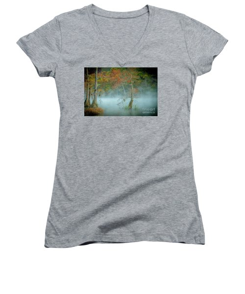 A Dancing Cypress Women's V-Neck T-Shirt