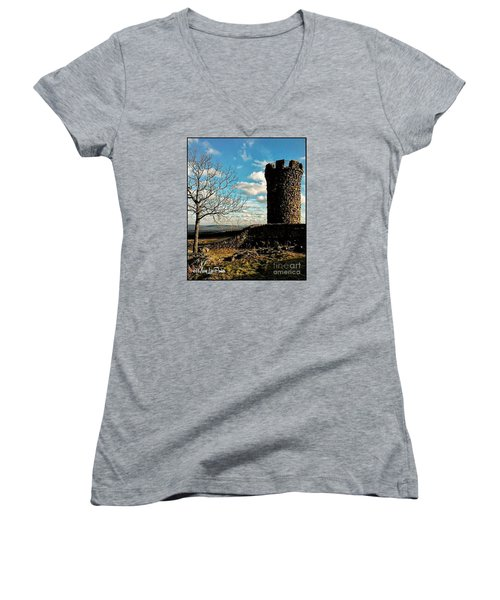A Day At  Craigs  Castle   Women's V-Neck