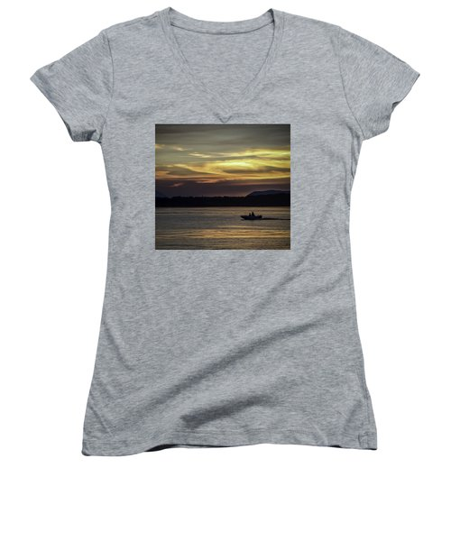 A Day Of Fishing Women's V-Neck