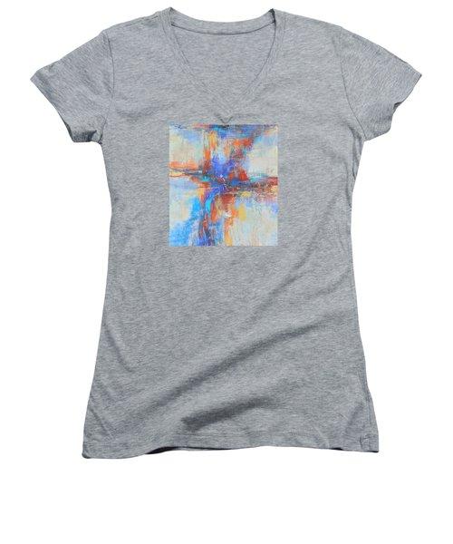 A Deep Breath Women's V-Neck T-Shirt (Junior Cut) by Becky Chappell