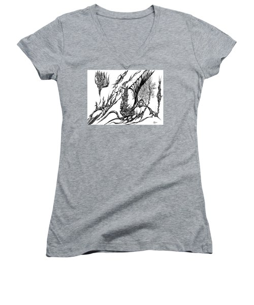 A Different Slant Women's V-Neck T-Shirt (Junior Cut) by Charles Cater