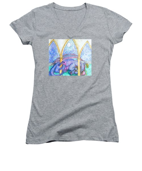 A Dragons Dream Women's V-Neck (Athletic Fit)