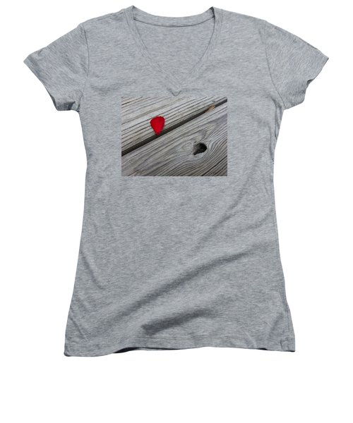 Women's V-Neck featuring the photograph A Drop Of Color by Robert Knight