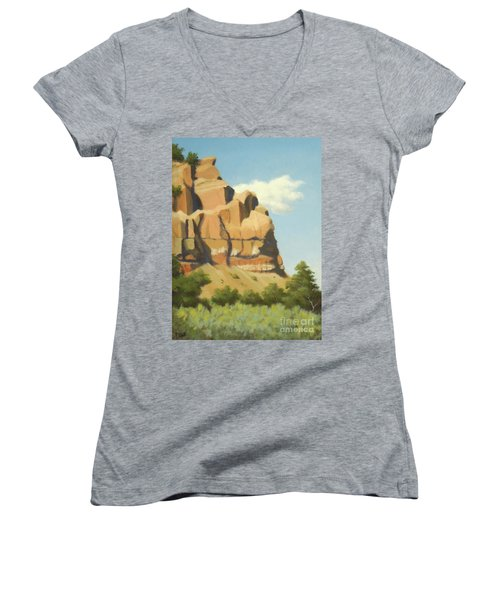 A Face In New Mexico Women's V-Neck T-Shirt