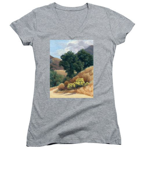 A Fall Day At Whitney Canyon Women's V-Neck (Athletic Fit)