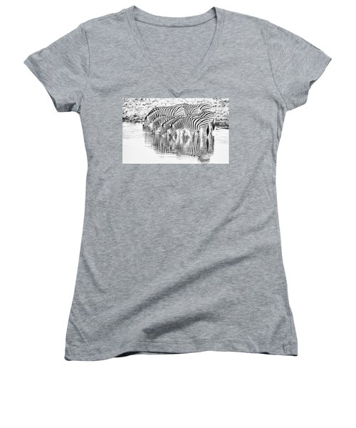 A Family That Drinks Together. Women's V-Neck