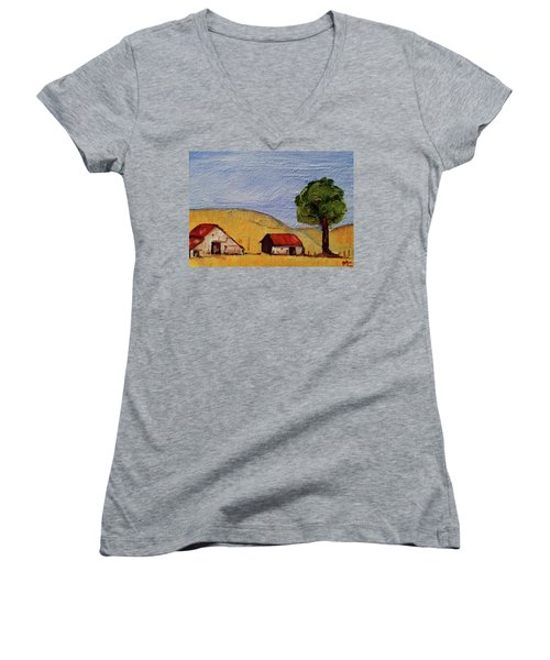 A Farm In California Winecountry Women's V-Neck