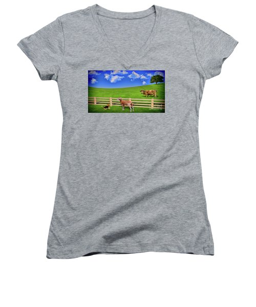 A Field Women's V-Neck (Athletic Fit)