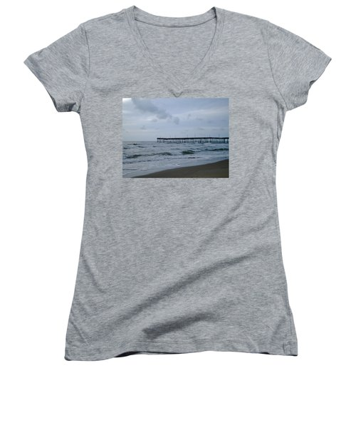 A Fishing Pier At Dawn Women's V-Neck (Athletic Fit)