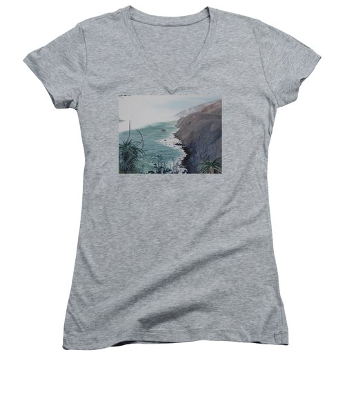 A Fog Creeps In Women's V-Neck (Athletic Fit)