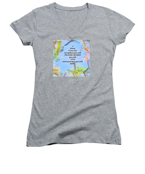 A Friend Women's V-Neck (Athletic Fit)